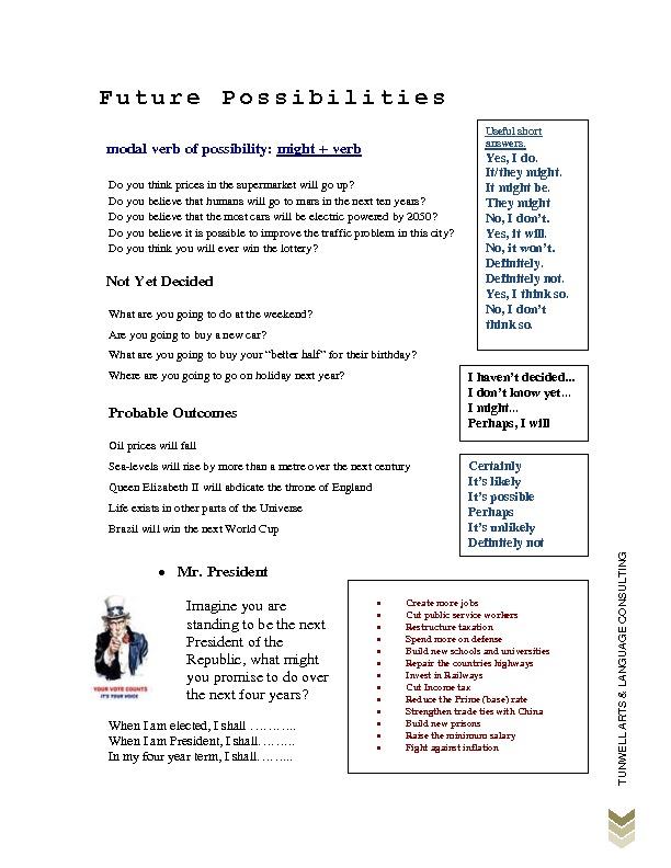 Lesson | Future Possibilities Alternative | Grammar